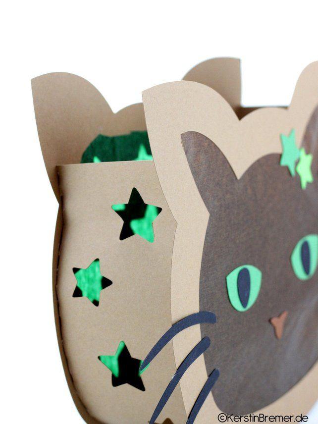 Ebook Katzen Laterne • Bastelanleitung • Laterne für St. Martin – Laternenfest – Deko   – Basteln