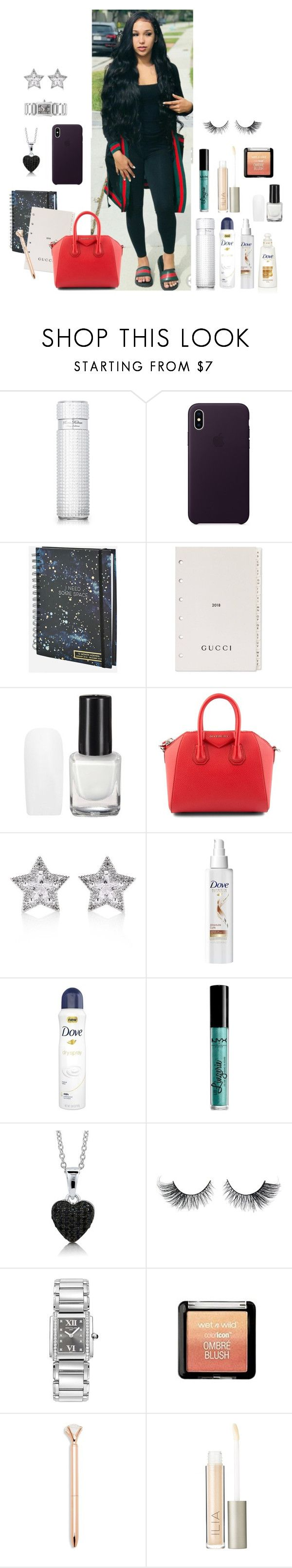 """Untitled #468"" by whitneykay ❤ liked on Polyvore featuring Paris Hilton, Ashley Stewart, Gucci, Givenchy, CZ by Kenneth Jay Lane, NYX, BERRICLE, Patek Philippe, Wet n Wild and Saks Fifth Avenue"