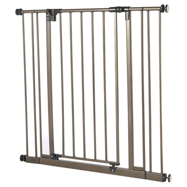 Extra Tall Deluxe Easy-Close Pressure Mounted Pet Gate Brown