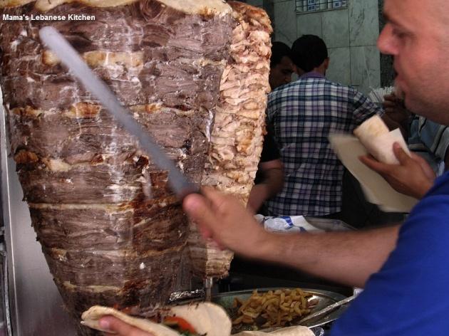 Beef shawarma.