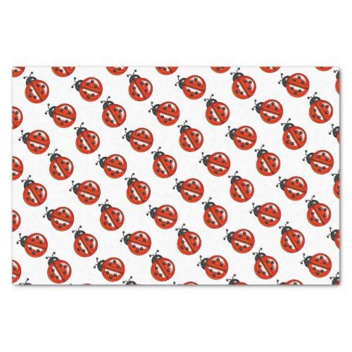 Red And White Ladybugs Gift Tissue Tissue Paper