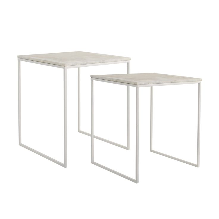 Bloomingville side table marble white