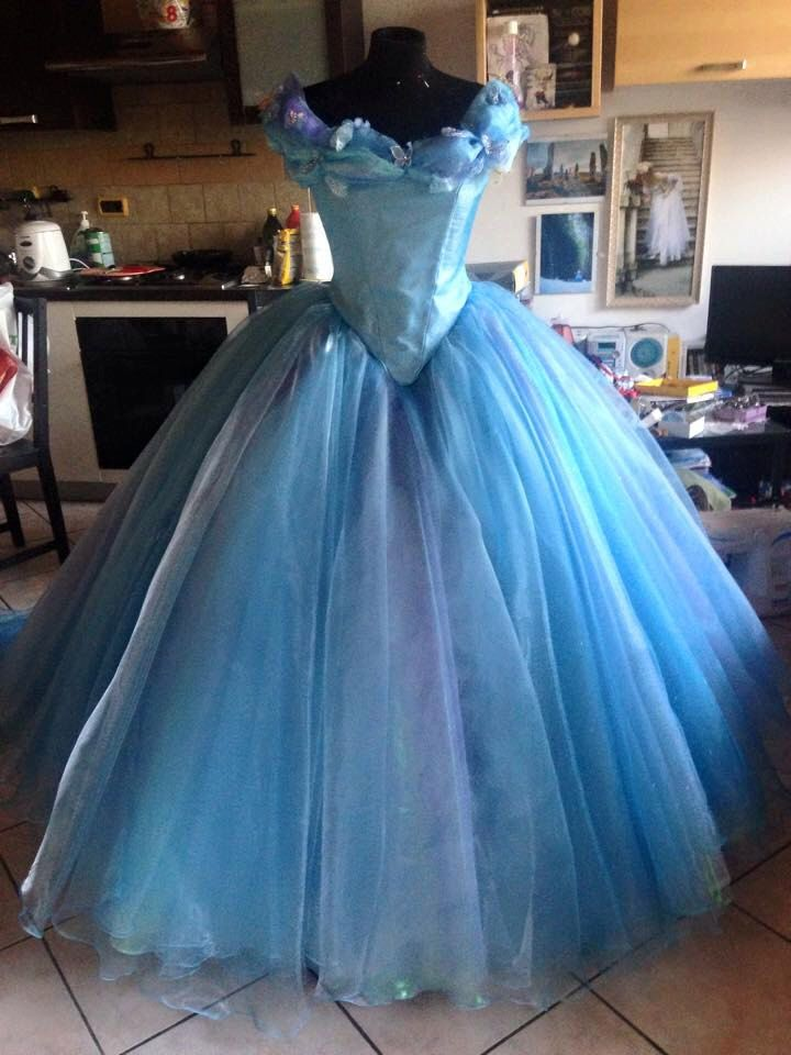 Ella Cinderella Disney movie 2015 blue ballgown by liliemorhiril on Etsy https://www.etsy.com/listing/227269146/ella-cinderella-disney-movie-2015-blue