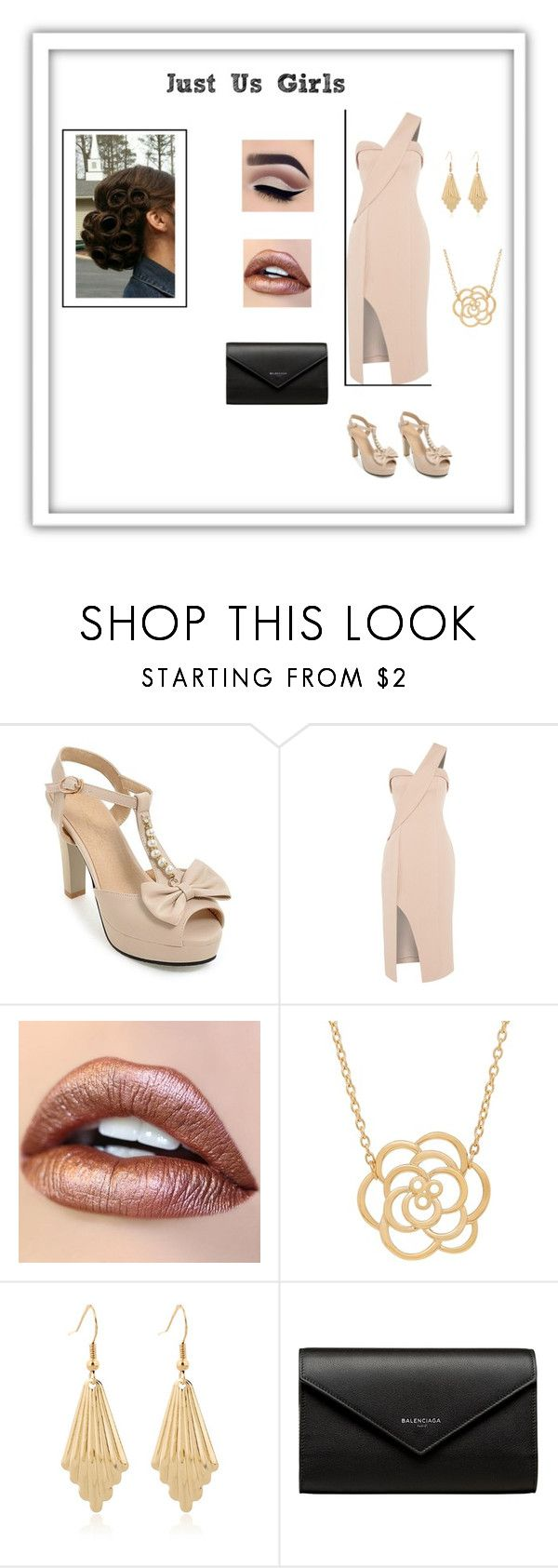 """""""Girls Night Out"""" by cnquint on Polyvore featuring Keepsake the Label, Lord & Taylor and Balenciaga"""