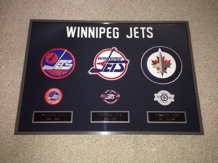 Winnipeg Jets History Frame - Contact me at macdonalds.sportsframes@yahoo.ca if you have any questions or would like to request a frame.