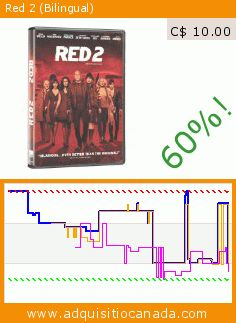Red 2 (Bilingual) (DVD). Drop 60%! Current price C$ 10.00, the previous price was C$ 24.99. By Dean Parisot, Bruce Willis, Helen Mirren, John Malkovich, Catherine Zeta-Jones. http://www.adquisitiocanada.com/eone-films/red-2-bilingual