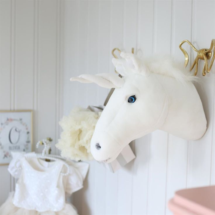 Stuffed Unicorn head for wall
