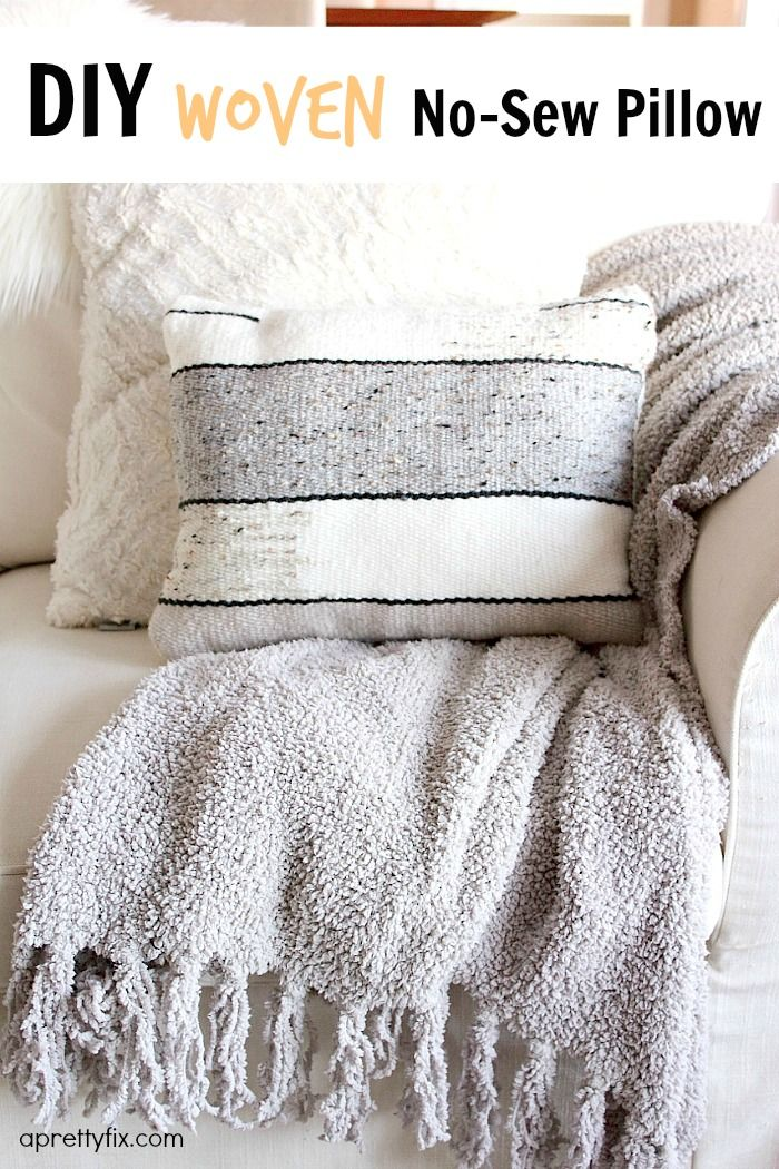 Interested in creating you own handmade woven no-sew pillow then look no further; this tutorial will show you the in's and out's
