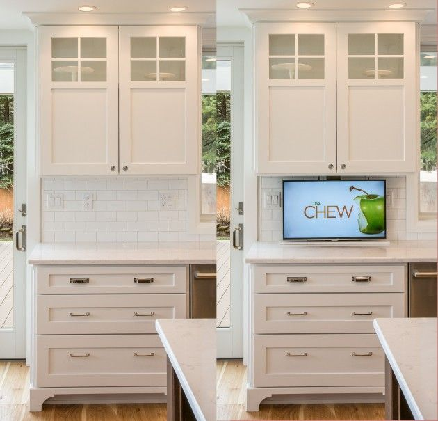 High Quality How To Hide Your TV. Kitchen ...