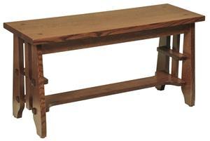 Amish Hardwood Bench, Guest Stick Mission