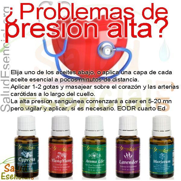 Aceites esenciales para bajar la tensión arterial.