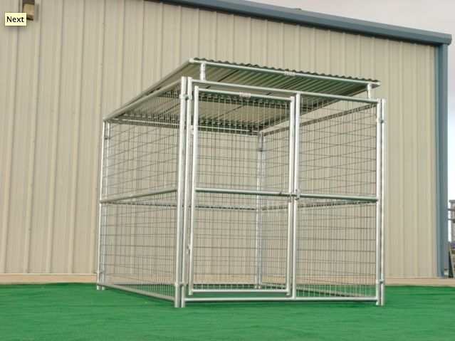 Rhino Dog Kennels heavy duty dog kennels are made with high-quality American made materials that ensure reliability over a lifetime. They are manufactured on-site using 16 gauge galvanized steel tubin