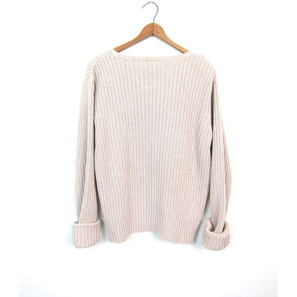 90s Boxy BEIGE Sweater Oversized Cable Knit Sweater Cotton Oatmeal ...