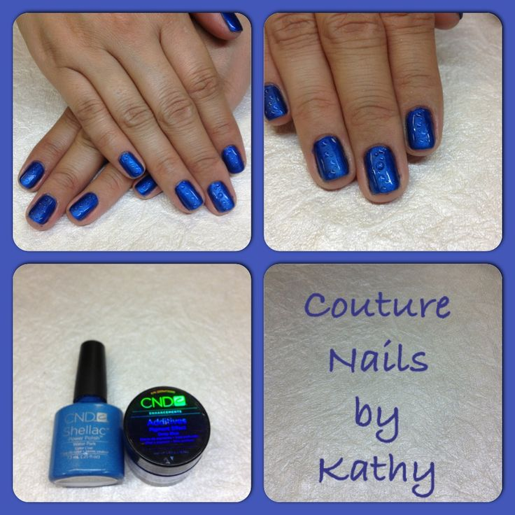 CND Shellac raindrop nail art Water Park Shellac Deep Blue additives