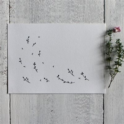 Gooseberrymoon's lovely Wild Sprigs print; printed onto beautiful eco-friendly tree-free (100% cotton) archival paper with fade-resistant pigment inks. http://www.mimosastreet.com/Wild-Sprigs-exclusive-botanical-print-p/gm002.htm