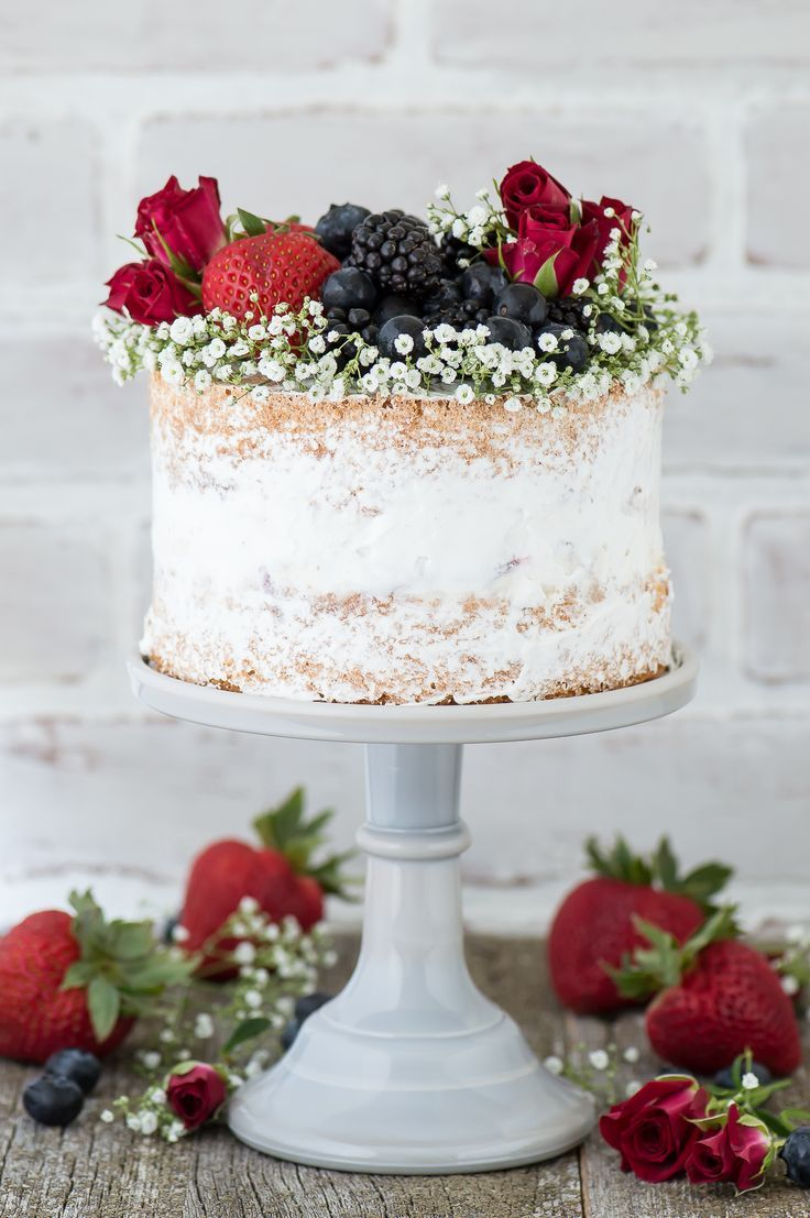 Naked Berry Ice Cream Cake Recipe A Featuring 2 Layers Of Vanilla Bean