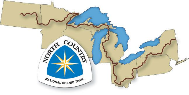 North Country Trail.  New York - North Dakota.  4,600 miles.  This trail is about 15 miles from us and most people don't even know it.
