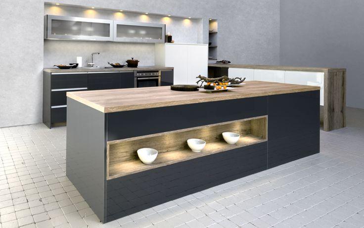 Rotpunkt Anthracite Metallic  White Kitchen