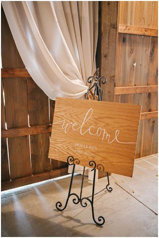 Barn wedding welcome sign | Amanda Adams Photography | see more at…