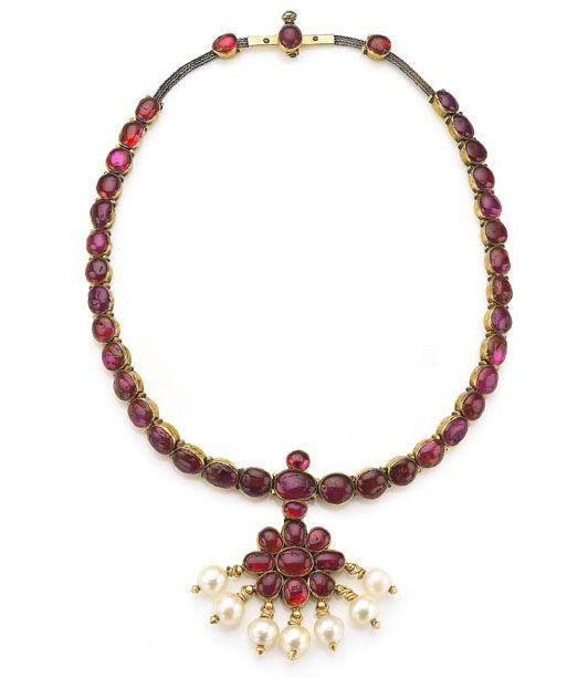 Ruby necklace Mysore, India 19th c.