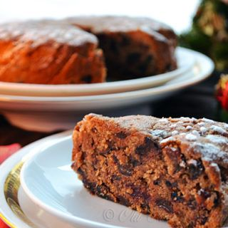 Jamaican Christmas Cake - dark, rich and moist fruit cake for holiday celebration