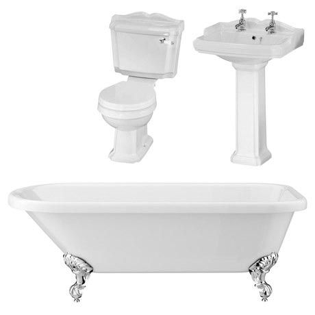 Oxford Traditional Free Standing Single Ended Roll Top Bath Suite