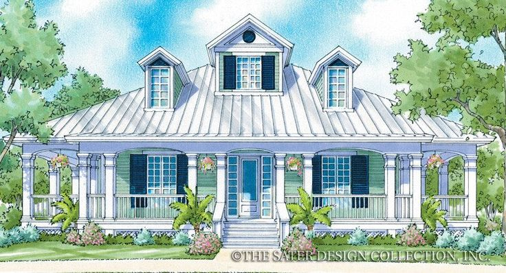"""Luxury cottage living in the """"Camden Place"""" home plan - Sater Design Collection"""