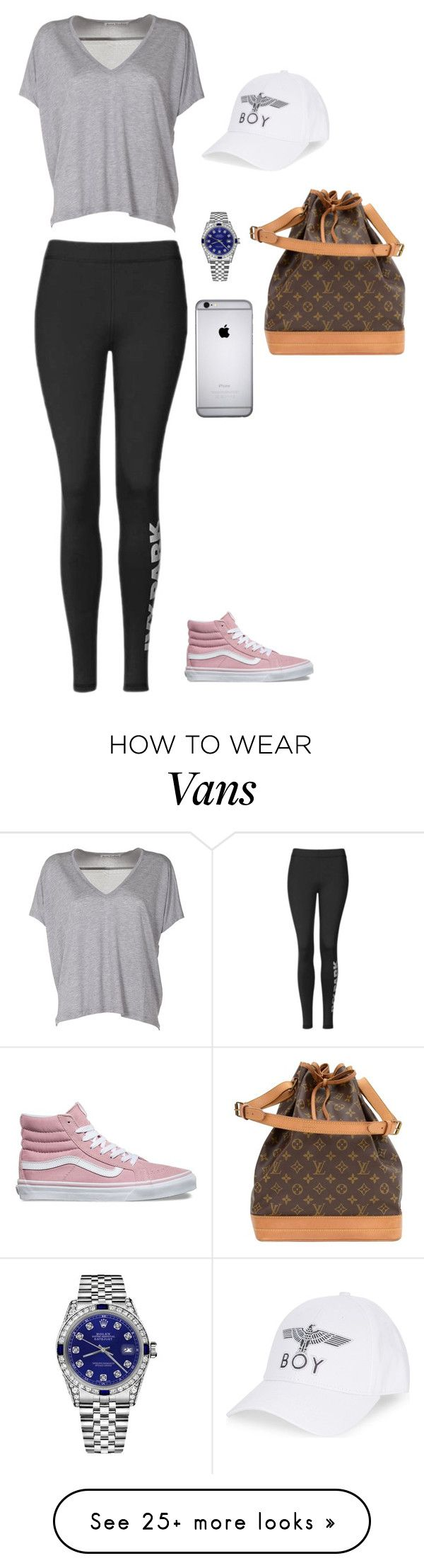 """"" by littlemix009 on Polyvore featuring Topshop, Acne Studios, Vans, Rolex, BOY London and Louis Vuitton"