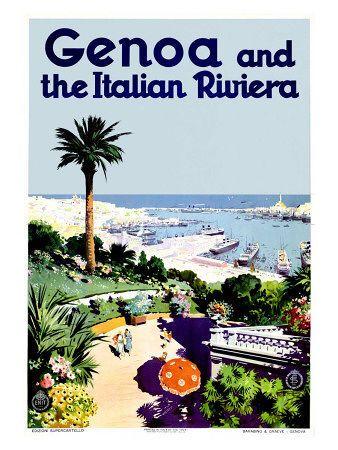 Genoa Italian Riviera Giclee Print - AllPosters.co.uk