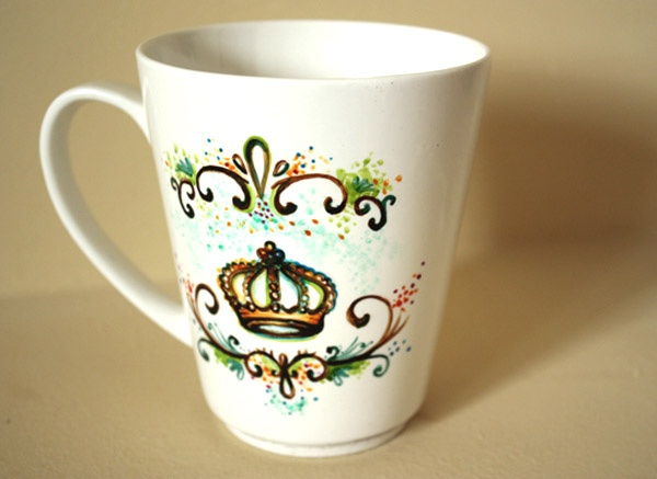 Best Paint Ideas Images On Pinterest Hand Painted Mugs Paint - Diy creative painted mug