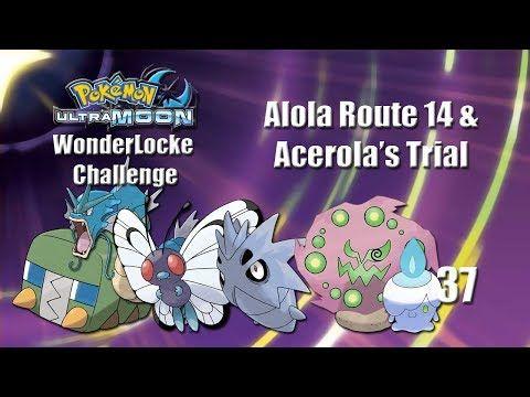 Pokemon Ultra Moon WonderLocke Challenge - Alola Route 14