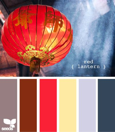 red lantern..bedroom: Bedrooms Theme, Design Seeds, Colors Schemes Bedrooms Navy, Colors Palettes, Living Rooms Colors, Red Lanterns, Bedrooms Colour, Colors Inspiration, Colour Schemes