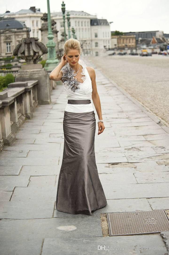 Cheap!! 2014 Backless White And Brown Long Mother Mother of the Bride Dresses | Buy Wholesale On Line Direct from China