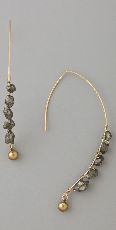 Soo Ihn Kim Klaus Pyrite Gemstone Earrings   SHOPBOP