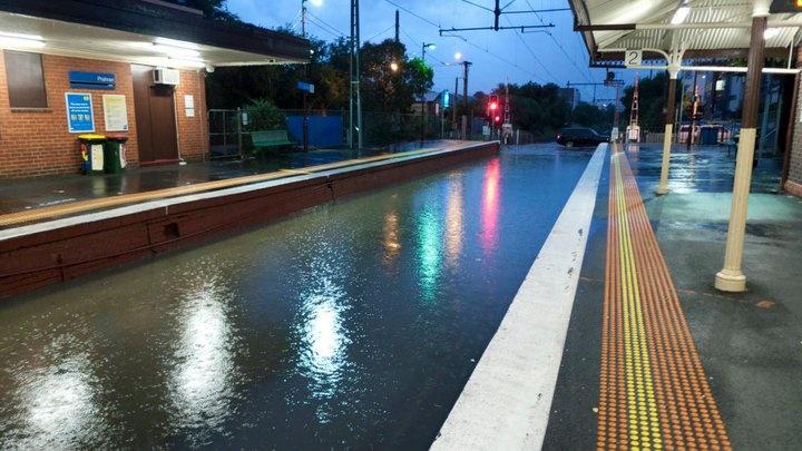 Prahran Station - Flooded