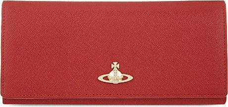 Vivienne Westwood Saffiano Leather Longline Purse - For Women in Red