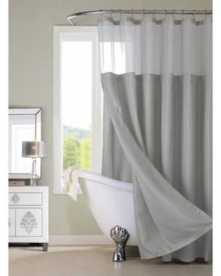 On Sale! Gracewood Hollow Asimov Hotel Shower Curtain with Detachable Liner