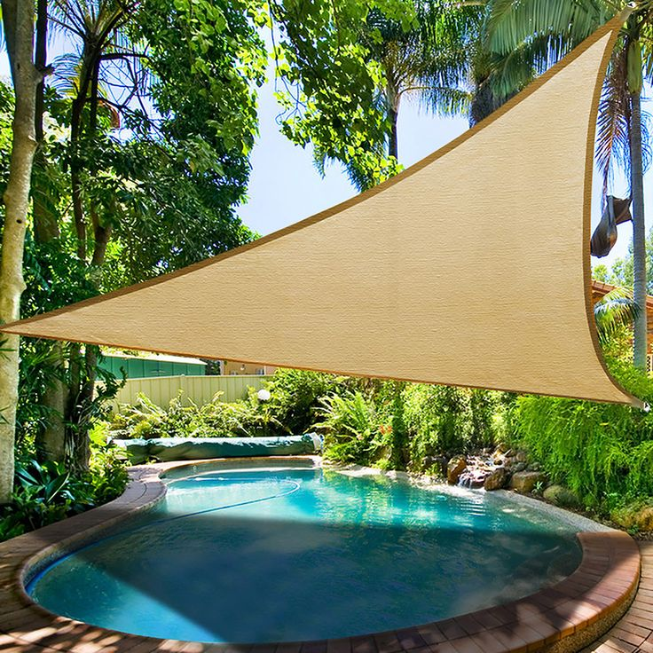 Triangle Outdoor Sun Shade And Canopy 11.5' Color Options
