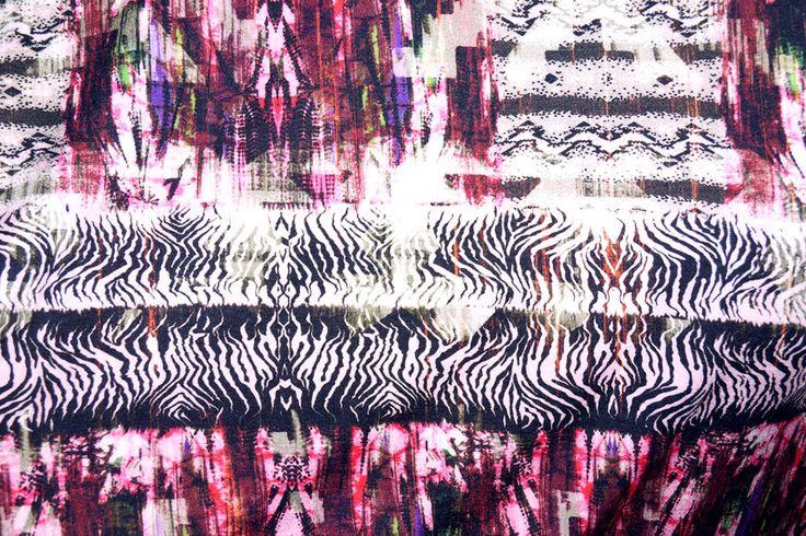 NB 15/16 7526-017 Tricot fantasie roze/bordeaux