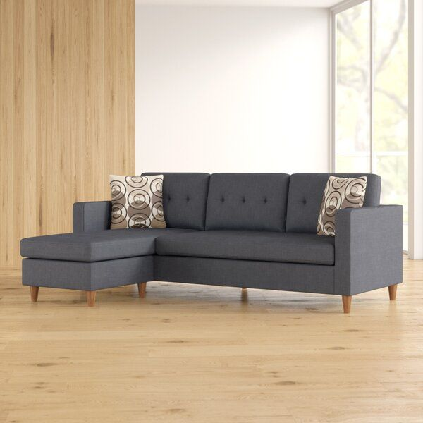 Dighton 86 Left Hand Facing Sectional Sectional Zipcode Design Cushions On Sofa
