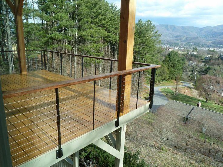 Best wire deck railing images on pinterest dog fence