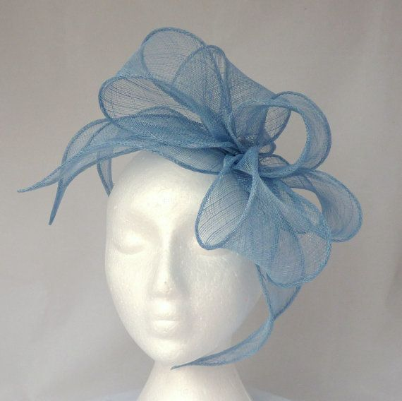 Pale Blue Ellie Loop & Leaf Fascinator / Headpiece - Weddings, Mother of the Bride, Ascot Ladies Day, Races