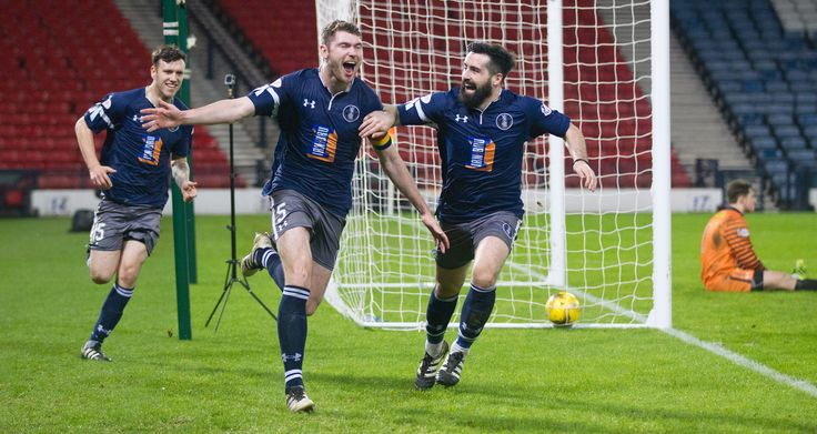 Queen's Park's Ryan McGeever celebrates his goal during the Ladbrokes League One game between Queen's Park and Airdrieonians.