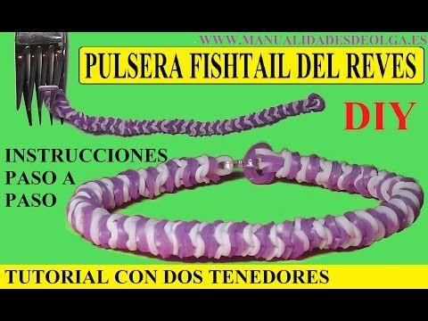 COMO HACER UNA PULSERA FISHTAIL DEL REVES DE GOMITAS CON DOS TENEDORES. NUEVO TUTORIAL DIY SIN TELAR - YouTube