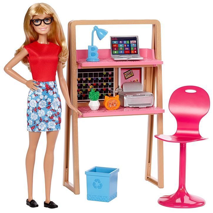 Barbie Doll and Office Furniture Playset | DVX52 | Barbie
