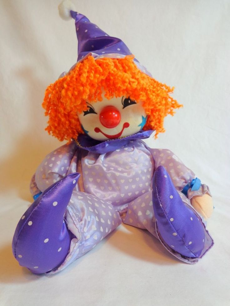 Breden Clown Music Box Musical Purple Doll Bring In The