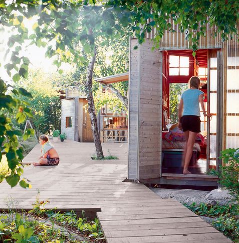 living indoors and outdoors