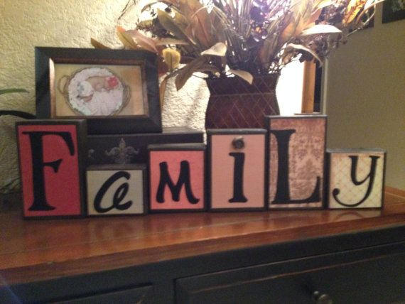 decorative block letters home decor wood by nicsloveletters 3000