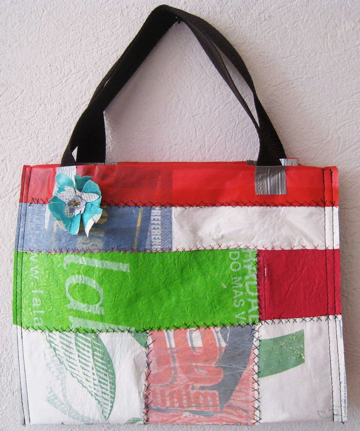 #cartera reciclada #Bolsas plásticas #Reciclaje #plastic bag handbag #recycle
