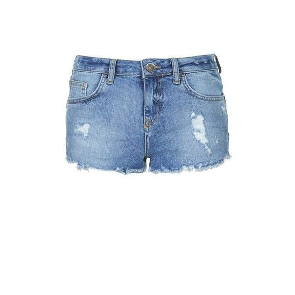TopShop Moto Vintage Daisy Shorts ($35) ❤ liked on Polyvore featuring shorts, mid stone, low rise shorts, cut-off shorts, daisy shorts, cotton shorts and cut off shorts